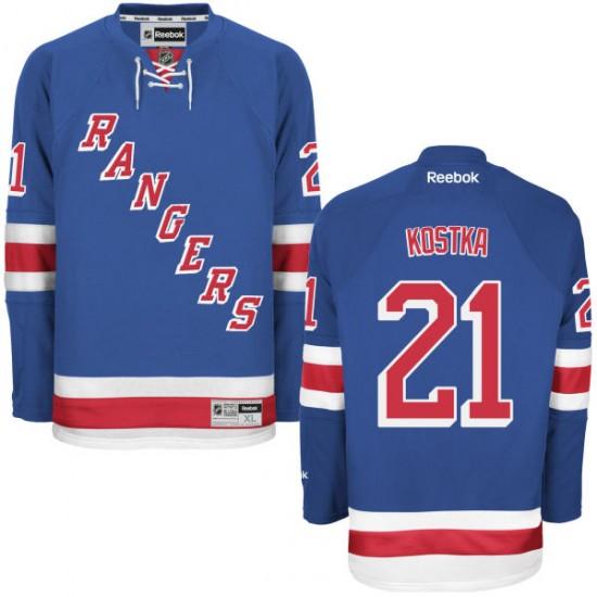 Adult Premier New York Rangers Michael Kostka Royal Blue Home Official Reebok Jersey