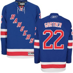 Adult Authentic New York Rangers Mike Gartner Royal Blue Home Official Reebok Jersey