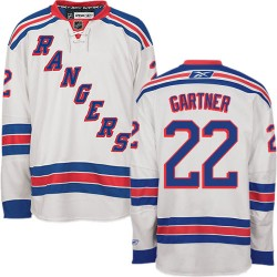 Adult Premier New York Rangers Mike Gartner White Away Official Reebok Jersey