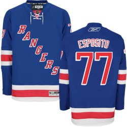 Adult Authentic New York Rangers Phil Esposito Royal Blue Home Official Reebok Jersey