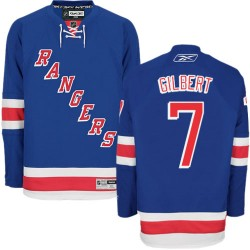 Adult Authentic New York Rangers Rod Gilbert Royal Blue Home Official Reebok Jersey
