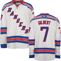 Adult Authentic New York Rangers Rod Gilbert White Away Official Reebok Jersey