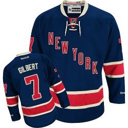 Adult Authentic New York Rangers Rod Gilbert Navy Blue Third Official Reebok Jersey