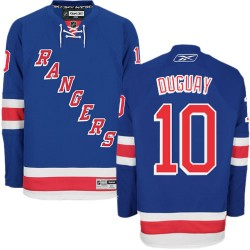 Adult Authentic New York Rangers Ron Duguay Royal Blue Home Official Reebok Jersey
