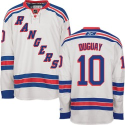 Adult Authentic New York Rangers Ron Duguay White Away Official Reebok Jersey