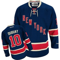 Adult Authentic New York Rangers Ron Duguay Navy Blue Third Official Reebok Jersey