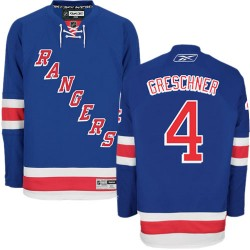 Adult Authentic New York Rangers Ron Greschner Royal Blue Home Official Reebok Jersey