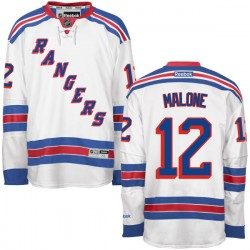 Adult Authentic New York Rangers Ryan Malone White Away Official Reebok Jersey
