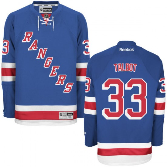 Adult Premier New York Rangers Cam Talbot Royal Blue Home Official Reebok Jersey
