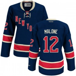 Women's Authentic New York Rangers Ryan Malone Navy Blue Alternate Official Reebok Jersey