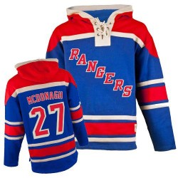 New York Rangers Ryan McDonagh Official Royal Blue Old Time Hockey Authentic Adult Sawyer Hooded Sweatshirt Jersey