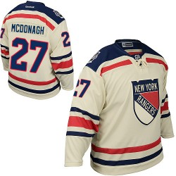 Adult Authentic New York Rangers Ryan McDonagh Cream 2012 Winter Classic Official Reebok Jersey