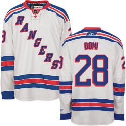 Adult Authentic New York Rangers Tie Domi White Away Official Reebok Jersey