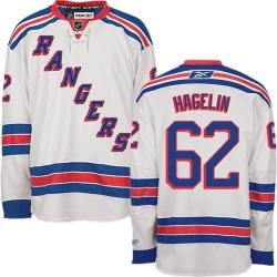 Adult Premier New York Rangers Carl Hagelin White Away Official Reebok Jersey