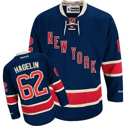 Adult Authentic New York Rangers Carl Hagelin Navy Blue Third Official Reebok Jersey