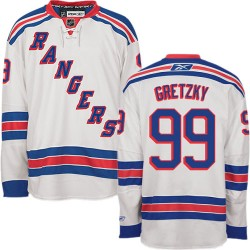 Women's Premier New York Rangers Wayne Gretzky White Away Official Reebok Jersey