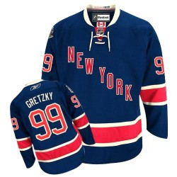 Women's Premier New York Rangers Wayne Gretzky Navy Blue Third Official Reebok Jersey