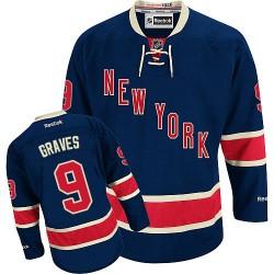 Adult Premier New York Rangers Adam Graves Navy Blue Third Official Reebok Jersey