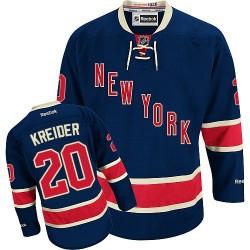 Adult Authentic New York Rangers Chris Kreider Navy Blue Third Official Reebok Jersey