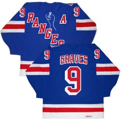 Adult Premier New York Rangers Adam Graves Royal Blue New Throwback Official CCM Jersey