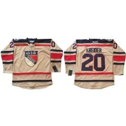 Adult Authentic New York Rangers Chris Kreider Cream 2012 Winter Classic Official Reebok Jersey