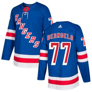 Adult Authentic New York Rangers Tony DeAngelo Royal Blue Home Official Adidas Jersey