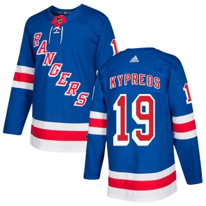 Adult Authentic New York Rangers Nick Kypreos Royal Blue Home Official Adidas Jersey