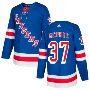 Adult Authentic New York Rangers George Mcphee Royal Blue Home Official Adidas Jersey