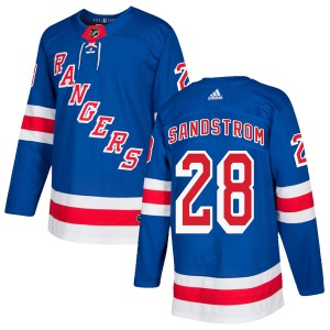 Adult Authentic New York Rangers Tomas Sandstrom Royal Blue Home Official Adidas Jersey
