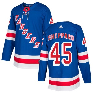 Adult Authentic New York Rangers James Sheppard Royal Blue Home Official Adidas Jersey