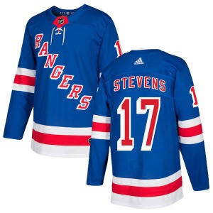 Adult Authentic New York Rangers Kevin Stevens Royal Blue Home Official Adidas Jersey