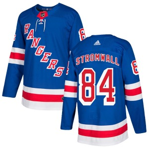 Adult Authentic New York Rangers Malte Stromwall Royal Blue Home Official Adidas Jersey