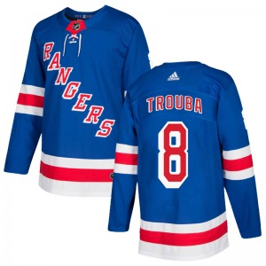 Adult Authentic New York Rangers Jacob Trouba Royal Blue Home Official Adidas Jersey
