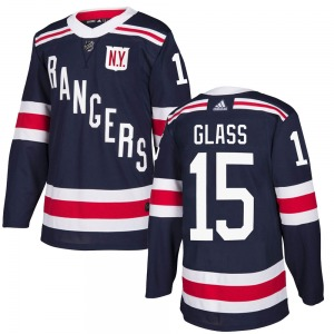 Adult Authentic New York Rangers Tanner Glass Navy Blue 2018 Winter Classic Home Official Adidas Jersey