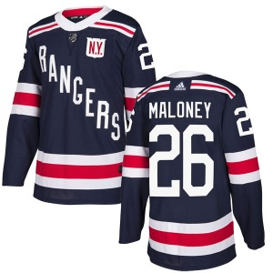 Adult Authentic New York Rangers Dave Maloney Navy Blue 2018 Winter Classic Home Official Adidas Jersey