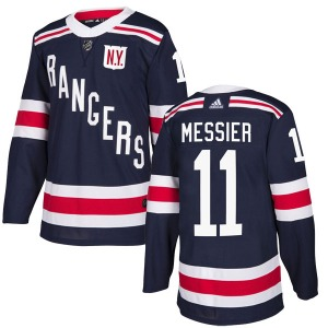 Adult Authentic New York Rangers Mark Messier Navy Blue 2018 Winter Classic Home Official Adidas Jersey