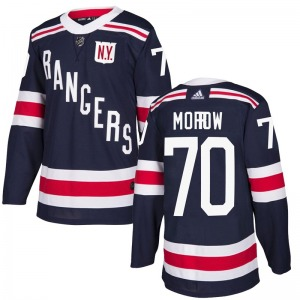Adult Authentic New York Rangers Joe Morrow Navy Blue 2018 Winter Classic Home Official Adidas Jersey