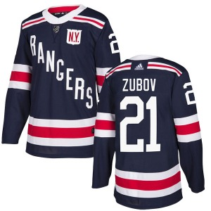 Adult Authentic New York Rangers Sergei Zubov Navy Blue 2018 Winter Classic Home Official Adidas Jersey