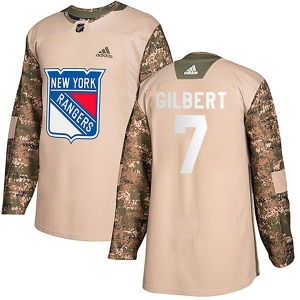 Adult Authentic New York Rangers Rod Gilbert Camo Veterans Day Practice Official Adidas Jersey