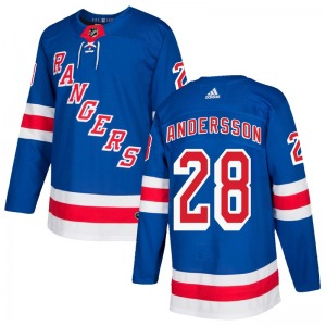 Youth Authentic New York Rangers Lias Andersson Royal Blue Home Official Adidas Jersey