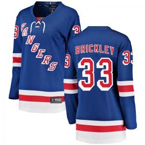 Women's Breakaway New York Rangers Connor Brickley Blue Home Official Fanatics Branded Jersey