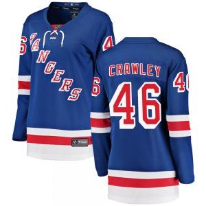 Women's Breakaway New York Rangers Brandon Crawley Blue ized Home Official Fanatics Branded Jersey