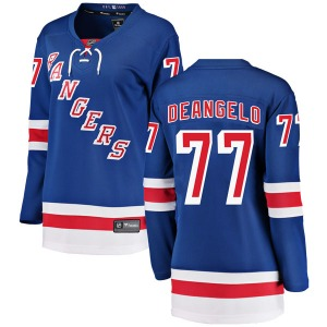 Women's Breakaway New York Rangers Tony DeAngelo Blue Home Official Fanatics Branded Jersey