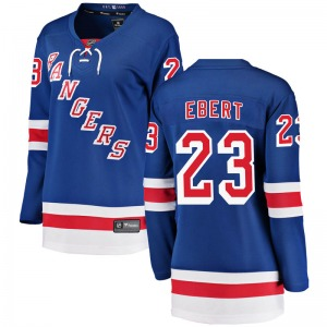 Women's Breakaway New York Rangers Nick Ebert Blue Home Official Fanatics Branded Jersey