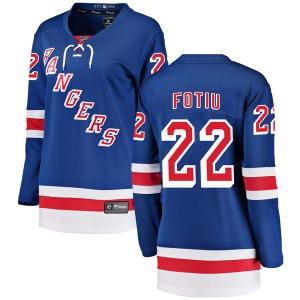 Women's Breakaway New York Rangers Nick Fotiu Blue Home Official Fanatics Branded Jersey