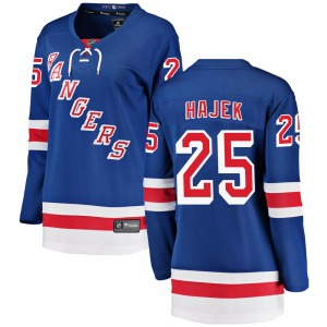 Women's Breakaway New York Rangers Libor Hajek Blue Home Official Fanatics Branded Jersey