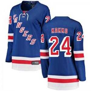 Women's Breakaway New York Rangers Kaapo Kakko Blue Home Official Fanatics Branded Jersey