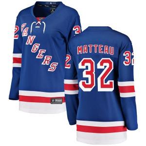 Women's Breakaway New York Rangers Stephane Matteau Blue Home Official Fanatics Branded Jersey