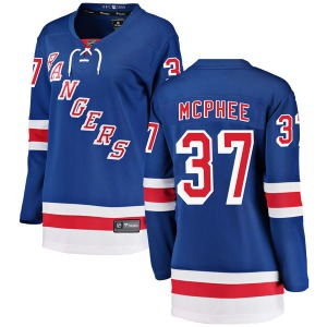 Women's Breakaway New York Rangers George Mcphee Blue Home Official Fanatics Branded Jersey
