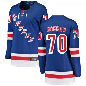 Women's Breakaway New York Rangers Joe Morrow Blue Home Official Fanatics Branded Jersey